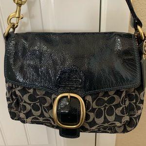 Vintage COACH Signature Hobo Style Denim Bag!